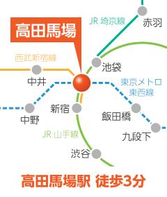 高田馬場駅 徒歩3分